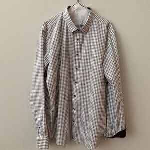 UNTUCKit long sleeve button down checker shirt
